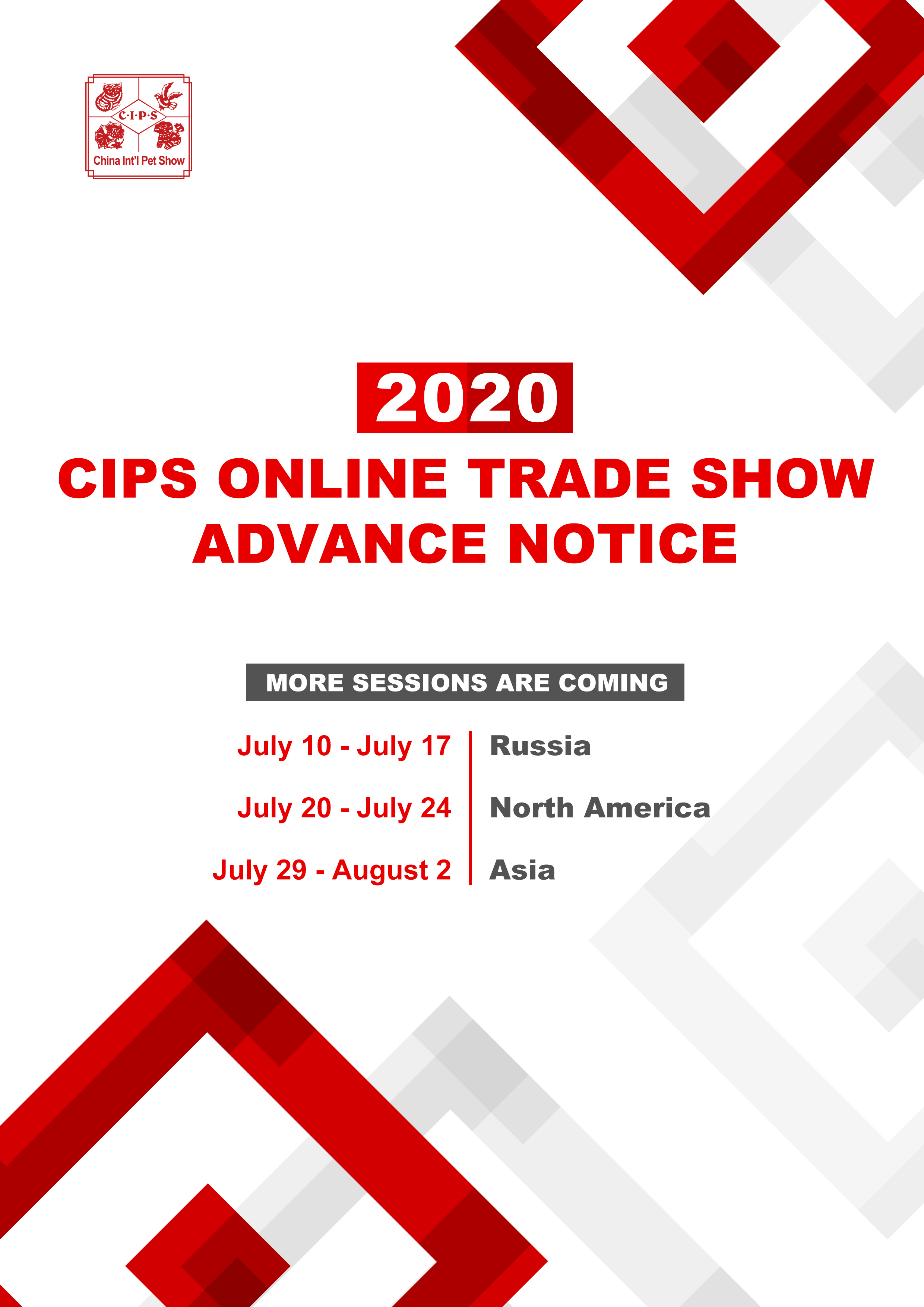 More sessions are coming of CIPS Online Trade Show