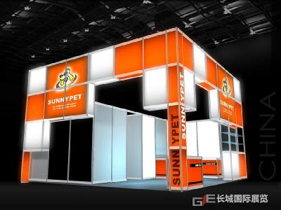 36 square meters booth construction renderings